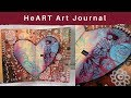 HeART Art Journal Page #TCW #TCWstencillove #TCWDT