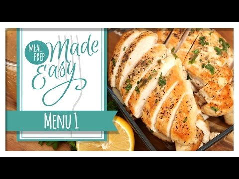 Healthy Meal Prep | Menu 1