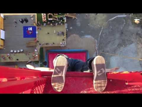 Would you jump from 52 meters hanging from your toes? Cracks Flux Pavilion Bagjump Extreme