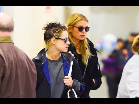 Kristen Stewart and Stella Maxwell  In New York
