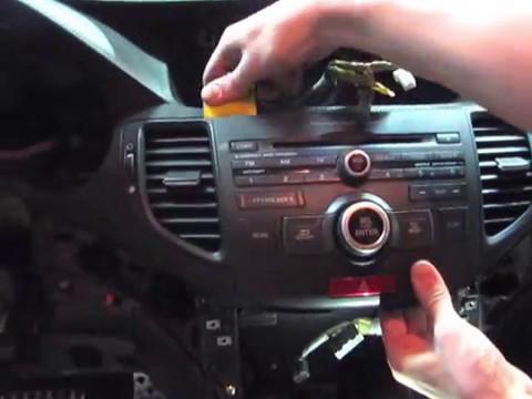 Снятие панели приборов Honda Accord VIII