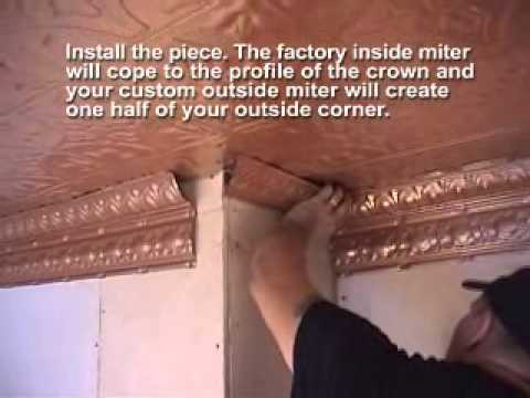 Install Crown Molding With Tin Ceilings
