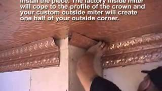 How to Install Crown Molding with Tin Ceilings (Compound Corners)