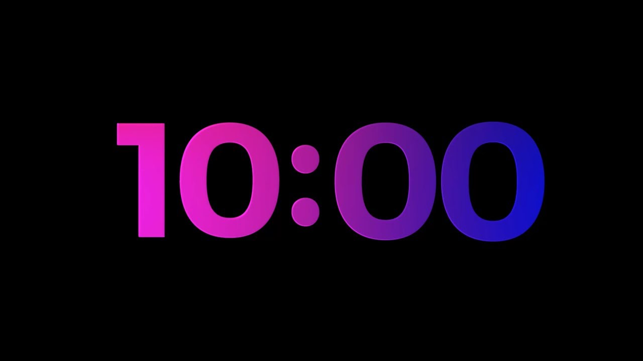 10 min countdown