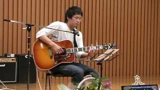 2010 7/25目指せギターの星、サマーコンサートで R君がしっとりと♪手紙...