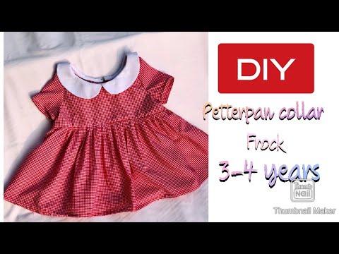 DIY Baby DIY petter pan collar frock/ dress for 3-4yrs baby girl🥰