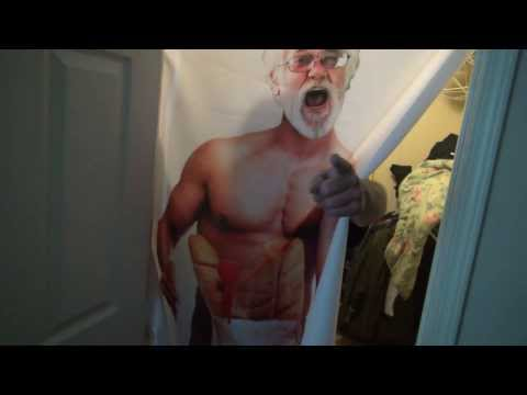 Angry Grandpa Shower Curtain