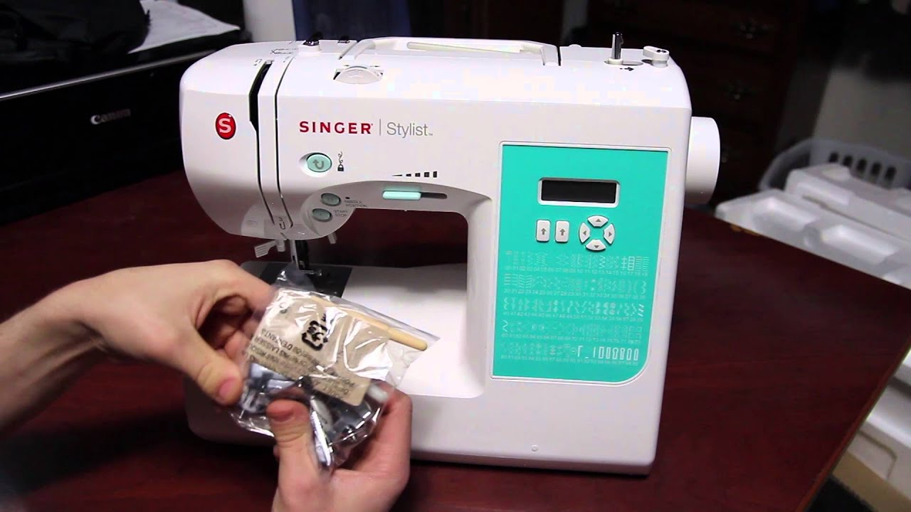 Singer 7258 Sewing Machine Unboxing