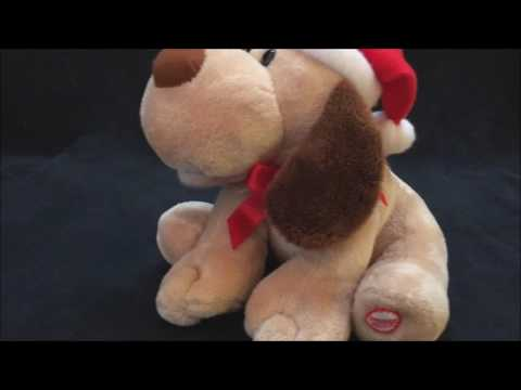 Hallmark Jingle Bells Singing Dog Christmas Plush