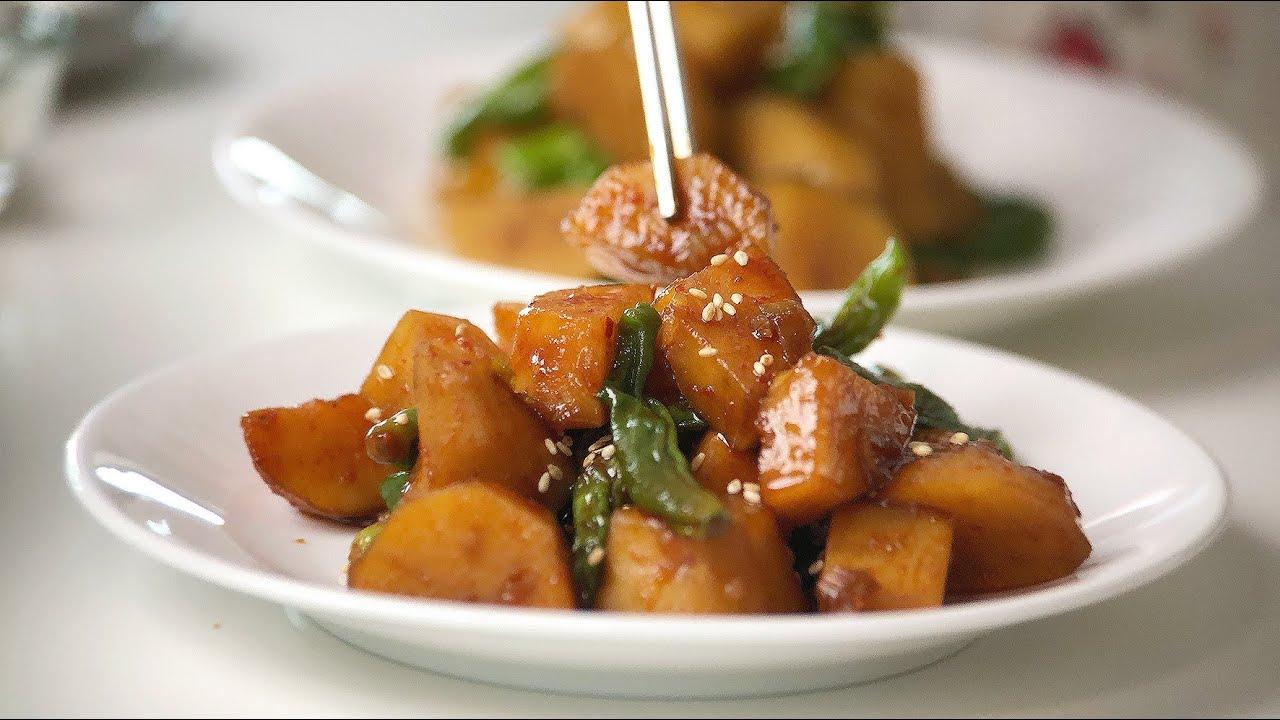 고구마 꽈리고추 조림(간장맛,매운맛) | 반찬 요리 | sweet potato | manna recipe | 만나레시피