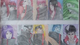 DRAWING TIME LAPSE AKATSUKI COLOR FULL