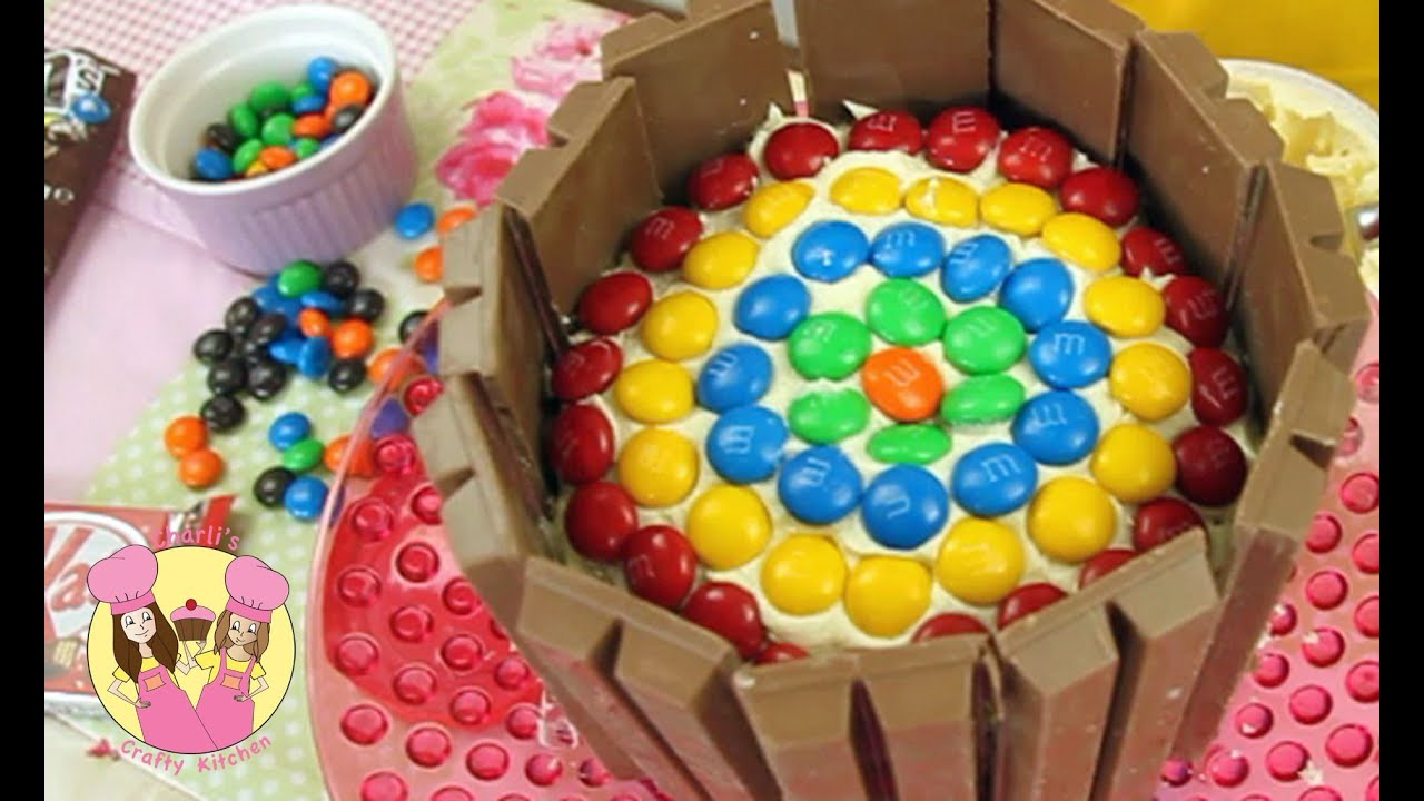Decorate a KitKat RAINBOW BIRTHDAY CAKE Easy howto tutorial