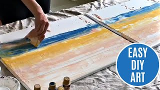 Easy DIY Abstract Wall Art with Acrylic Paints