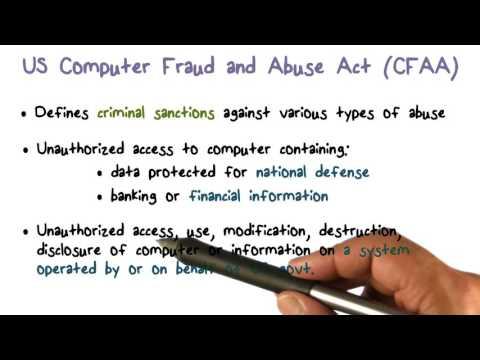 US Computer Fraud and Abuse Act (CFAA)
