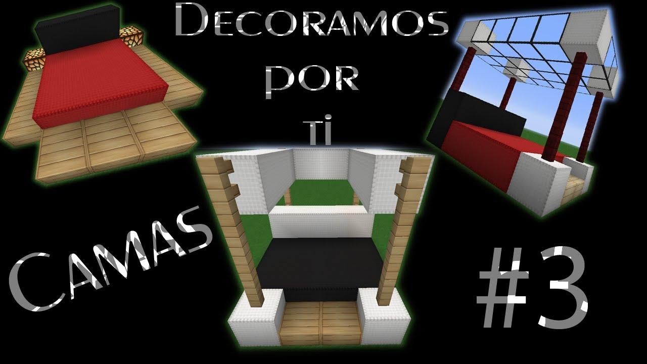 Minecraft tutorial decoramos por ti ep 4 cama bed - Ideas para cabezales de cama ...