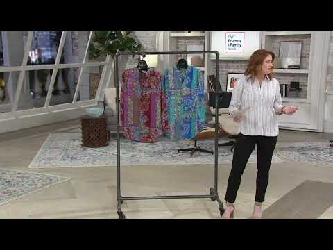 Joan Rivers Patchwork Print Textured Blouse On QVC