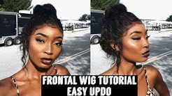 HOW TO WIG TUTORIAL   QUICK AND EASY UPDO STYLE   FRONTAL WIG   DIVASWIGS