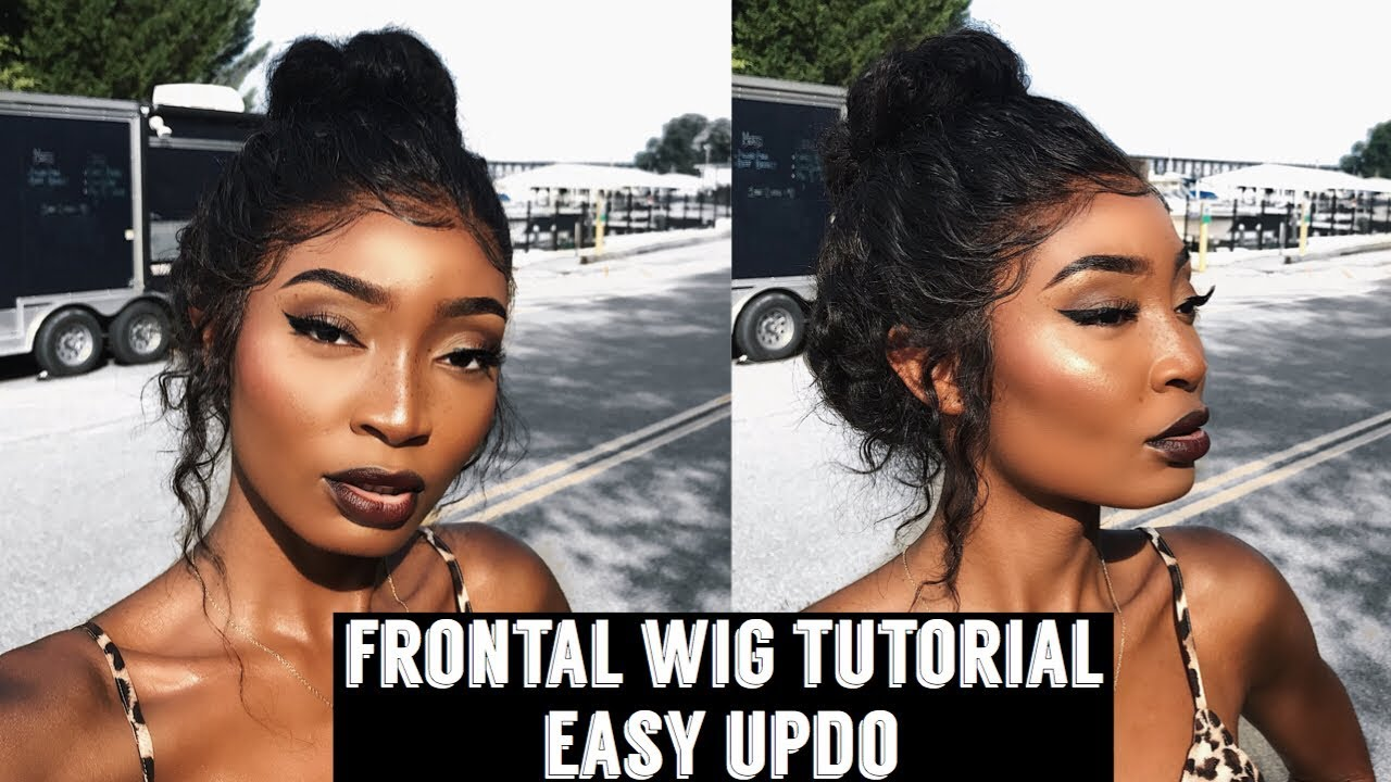 How To Wig Tutorial Quick And Easy Updo Style Frontal Wig Divaswigs Youtube