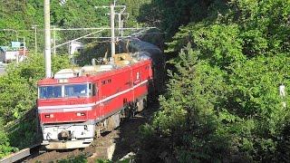 団臨『カシオペアクルーズ』がEH800-1号機牽引で青函トンネルを...