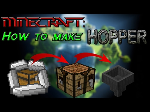how to make a hopper work in minecraft
