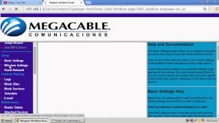 Cómo cambiar la contraseña del WI-FI | MEGACABLE | (diferente página).