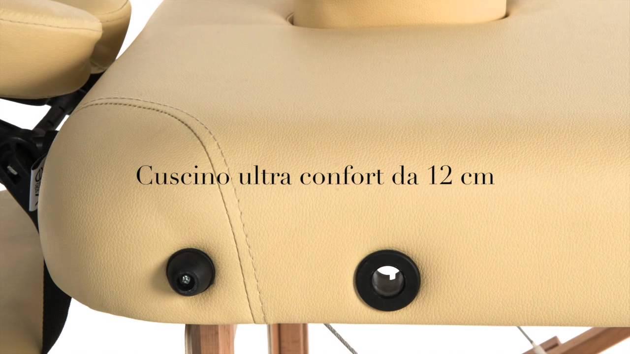 Lettino Massaggio Portatile San Marco.Lettino Da Massaggio 3 Sezioni Legno Ultra Confort Youtube
