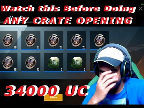 34000 UC Crate Opening | The Most Unluckiest Crate Opening | PUBG Mobile