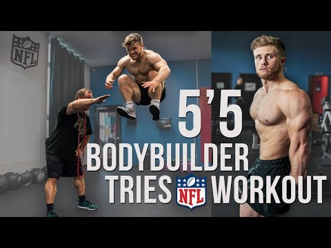 I Attempted A Pro NFL Football Workout… (Explosive Athletic Training)