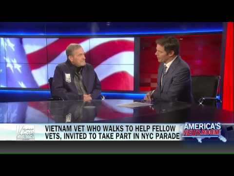 Vietnam veteran walks to raise money for America's heroes   Fox News Video