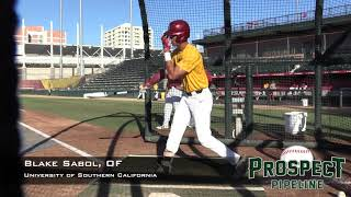 Blake Sabol Prospect Video, OF, University of Southern California