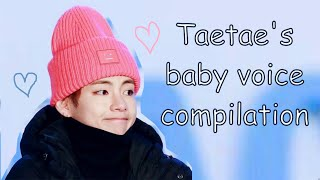Cover images Kim Taehyung's (BTS V) baby voice compilation.