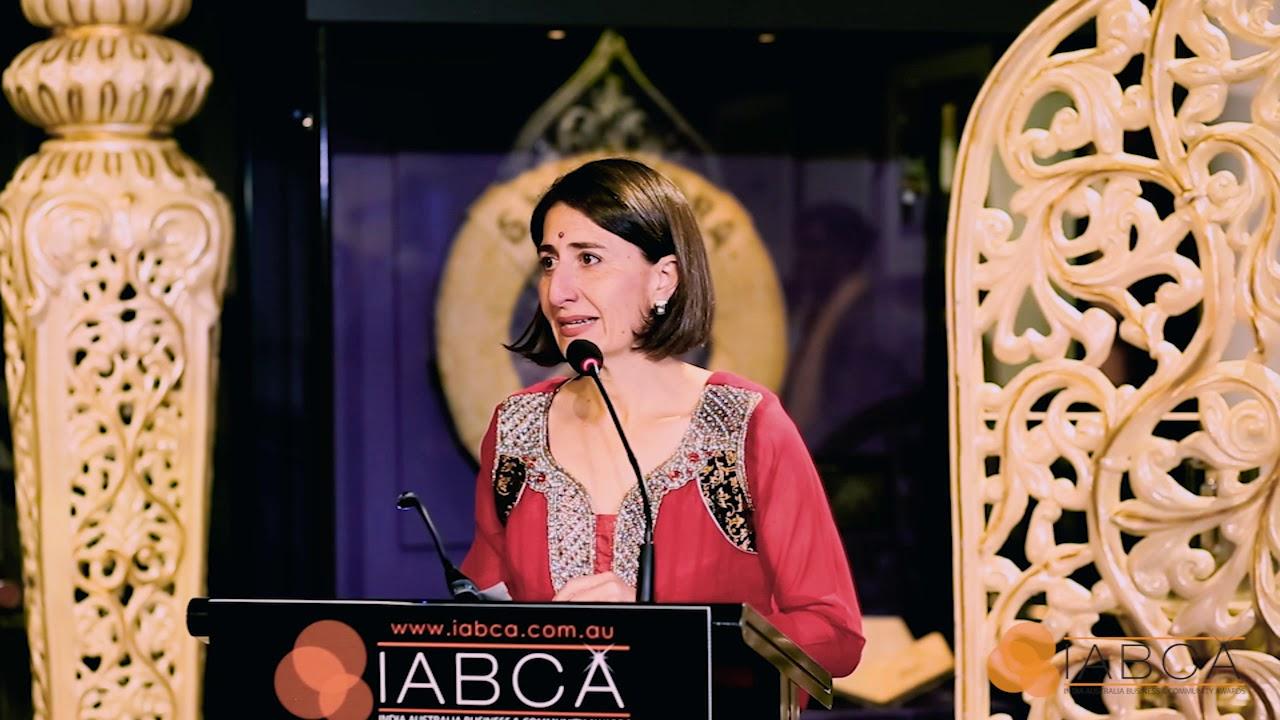 IABCA 2017 - Thank you to The Premier of NSW Gladys Berejiklian, MP