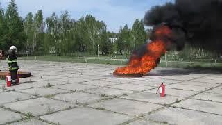 Испытания порошкового огнетушителя ОП-5_очаг 55В(Полигонные испытания порошкового огнетушителя ОП-5 с зарядом огнетушащего порошка П-2АПМ по подтверждению..., 2011-12-23T14:25:00.000Z)