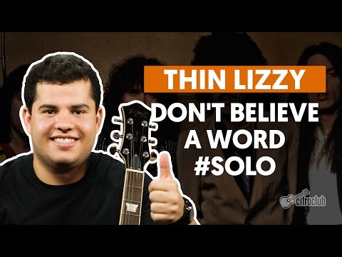 DONT BELIEVE A WORD CHORDS by Thin Lizzy @ Ultimate …