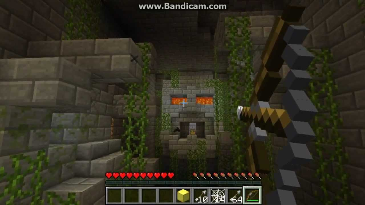 Minecraft adventure map jungle temple part-1/1 - YouTube