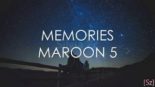 Maroon 5 - Memories (Letra en Español)