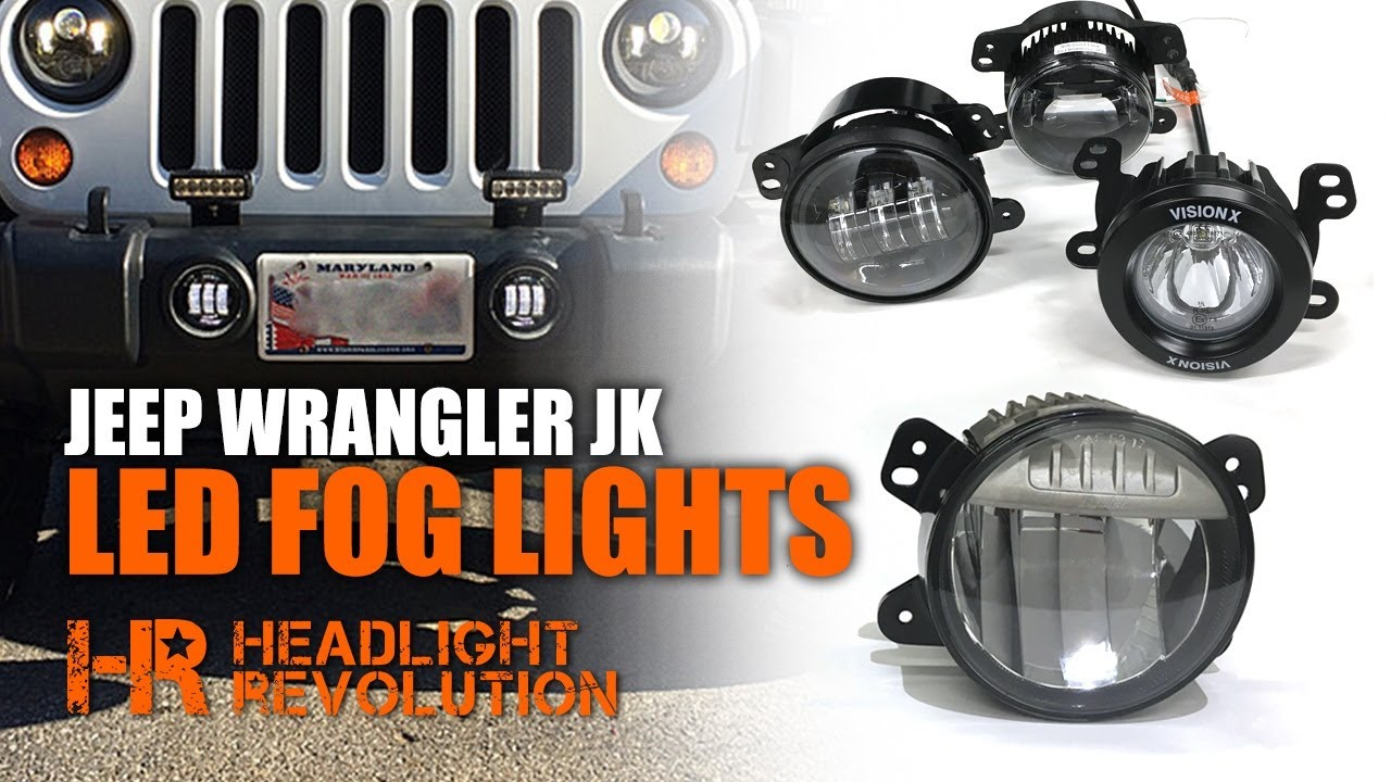 The Brightest Jeep Wrangler Fogs   Myotek OEM Vs JW Speaker Vision X  Morimoto LED Fog Lights