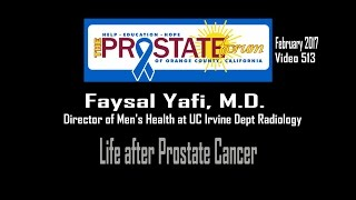 "513. ""Life After Prostate Cancer"" by Faysal Yafi, M.D.,  February 23, 2017."