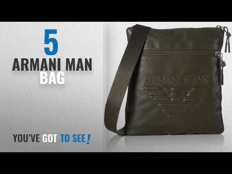 Top 10 Armani Man Bag [2018]: Armani Jeans Men's Piattina Grande Shoulder Bag