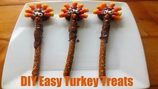 DIY Easy Thanksgiving Turkey Treats!