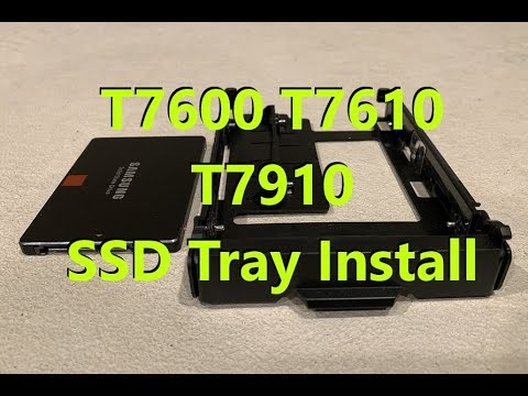 Precision T7600 T7610 T7910 SSD Drive Tray Install