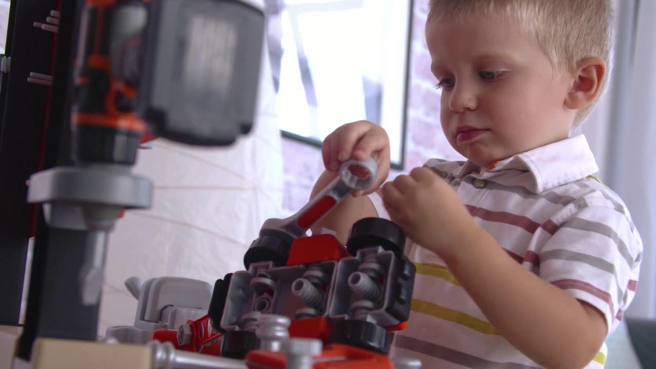 Детская мастерская Smoby Black&Decker с инструментами