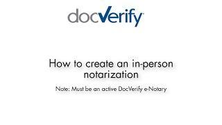 كيفية إنشاء في شخص e-التوثيق