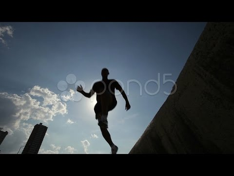 Three Friends Doing Sport Activities Near The Sea. Stock Footage