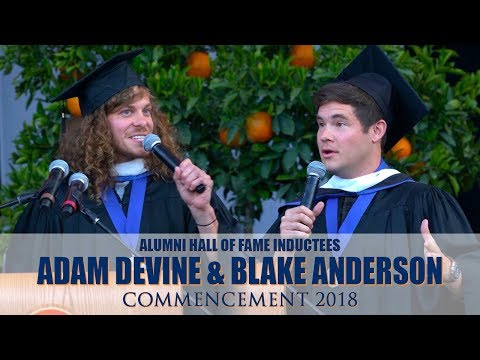 Commencement 2018 ⎪ Alumni Hall of Fame Inductees Adam Devine & Blake Anderson