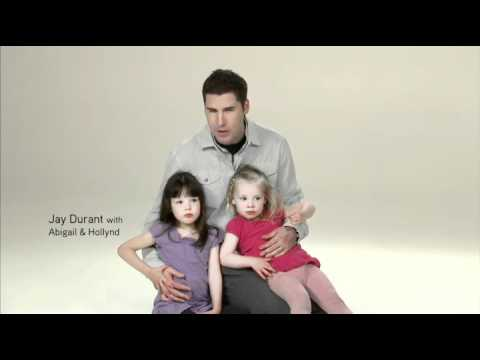 Jay Durant with his daughters