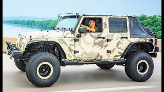 WRAPPING MY JEEP LIKE A CRAZY MILITARY VEHICLE!!! MY BEST WRAP EVER...