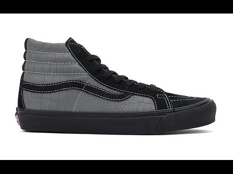 2e68d9eafc5b22 Shoe Review  Vans Vault Originals x WTAPS  Reptile Nubuck  OG SK8-Hi LX  (Black Dark Grey)