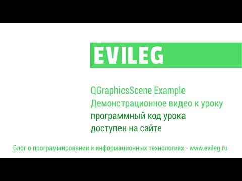 Qt уроки #4. QGraphicsScene или как работать с графикой в Qt