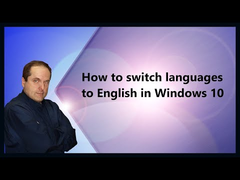 How to switch languages to English in Windows 10